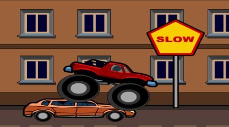 Screenshot of the game Monster Truck Curfew