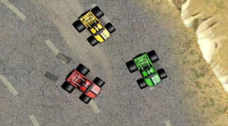 Screenshot of the game Monster Truck Racing