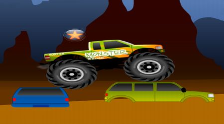 Screenshot of the game Monster Wheelie